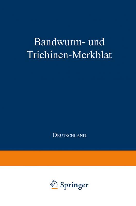 Cover-Bild Bandwurm- und Trichinen-Merkblatt