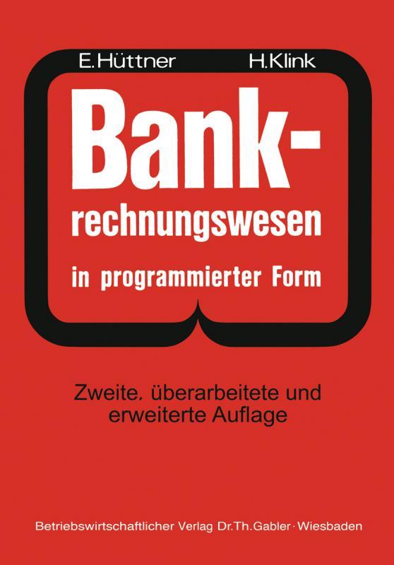Cover-Bild BANK-Rechnungswesen in programmierter Form