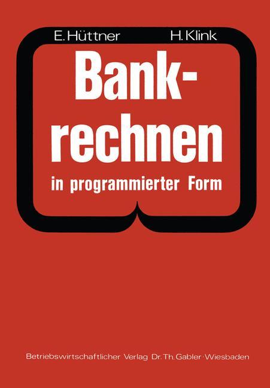 Cover-Bild Bankrechnen in programmierter Form