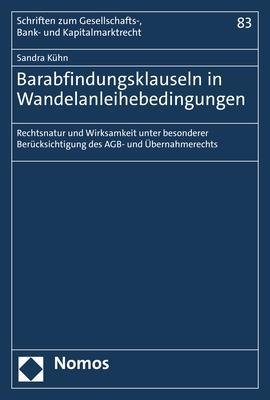 Cover-Bild Barabfindungsklauseln in Wandelanleihebedingungen