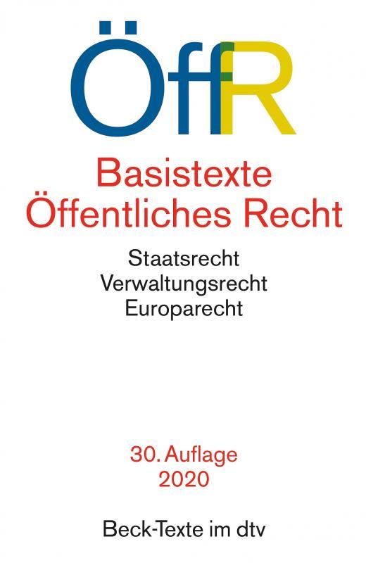 Cover-Bild Basistexte Öffentliches Recht
