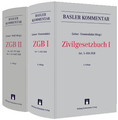 Cover-Bild Basler Kommentar Zivilgesetzbuch I + Zivilgesetzbuch II