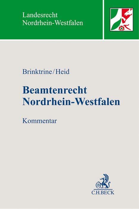 Cover-Bild Beamtenrecht Nordrhein-Westfalen