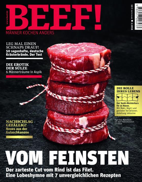 Cover-Bild BEEF! Heft 02/2018 - Für Männer mit Geschmack