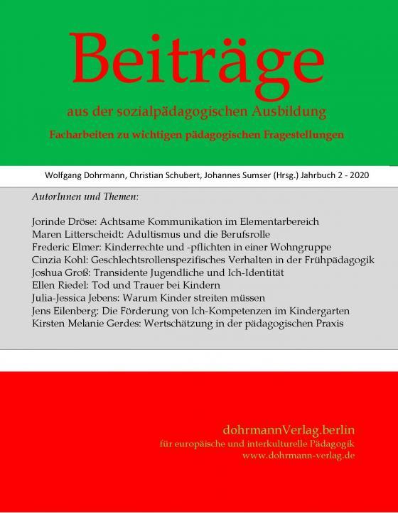 Cover-Bild Beiträge aus der sozialpädagogischen Ausbildung