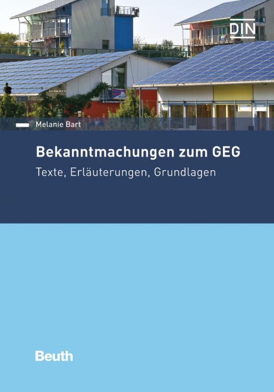 Cover-Bild Bekanntmachungen zum GEG