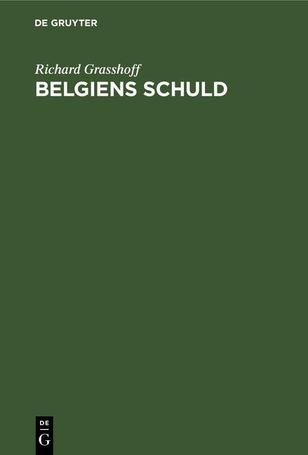 Cover-Bild Belgiens Schuld