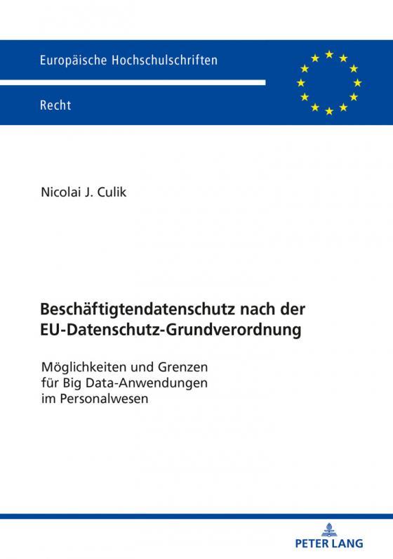 Cover-Bild Beschäftigtendatenschutz nach der EU-Datenschutz-Grundverordnung