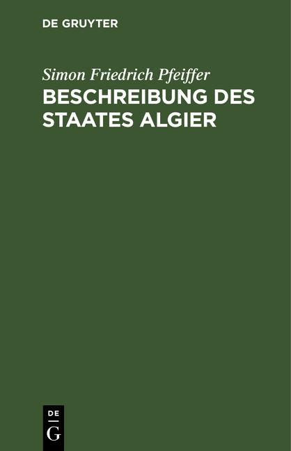 Cover-Bild Beschreibung des Staates Algier