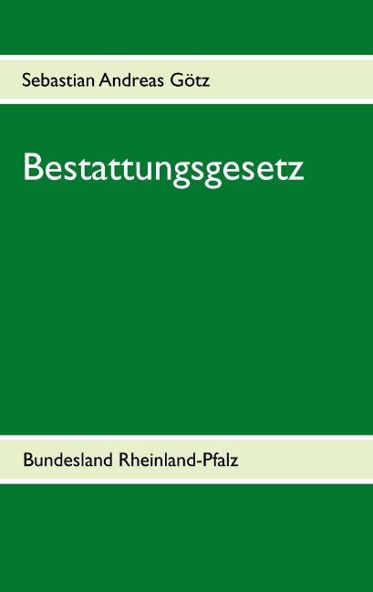 Cover-Bild Bestattungsgesetz Rheinland-Pfalz