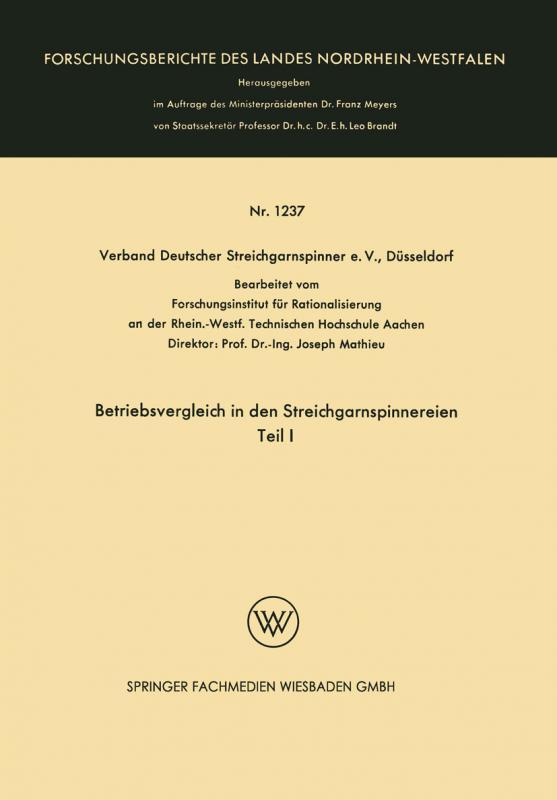 Cover-Bild Betriebsvergleich in den Streichgarnspinnereien