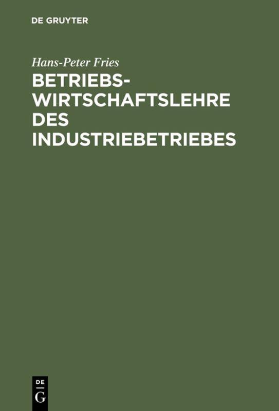 Cover-Bild Betriebswirtschaftslehre des Industriebetriebes