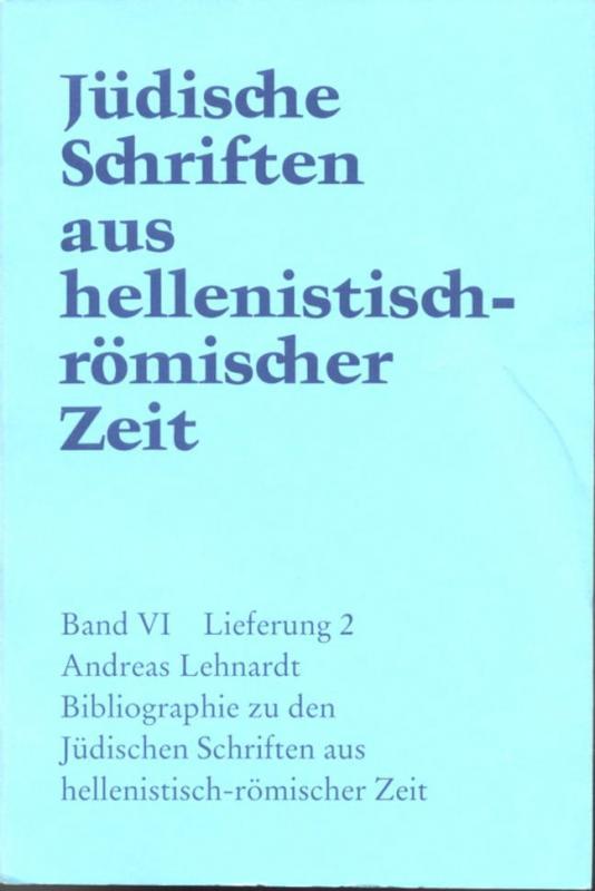 Cover-Bild Bibliographie zu den Jüdischen Schriften aus hellenistisch-römischer Zeit