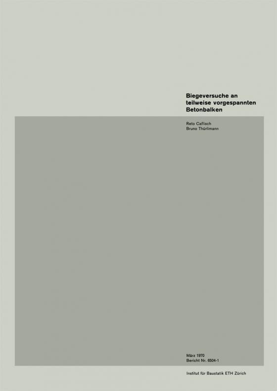 Cover-Bild Biegeversuche an teilweise vorgespannten Betonbalken