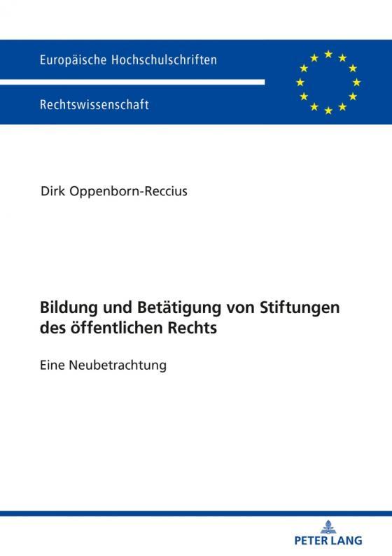 Cover-Bild Bildung und Betätigung von Stiftungen des öffentlichen Rechts