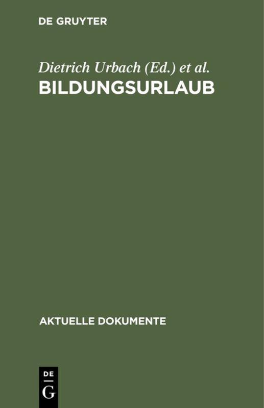 Cover-Bild Bildungsurlaub
