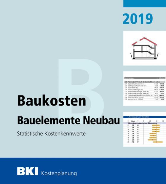 Cover-Bild BKI Baukosten Bauelemente Neubau 2019