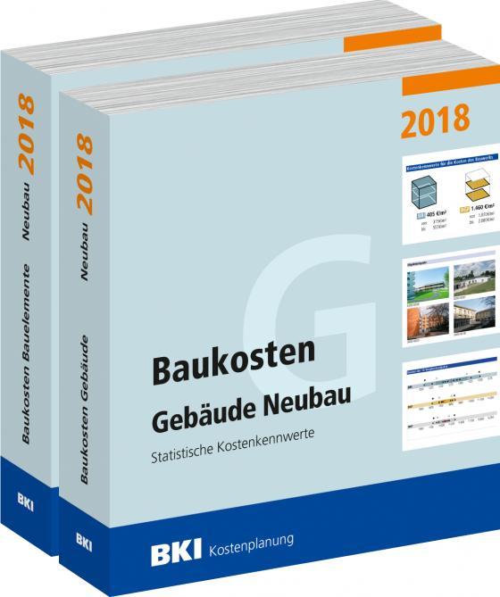 Cover-Bild BKI Baukosten Gebäude + Bauelemente Neubau 2018 - Kombi Teil 1-2