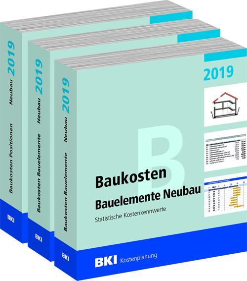 Cover-Bild BKI Baukosten Gebäude, Positionen und Bauelemente Neubau 2019 - Teil 1-3