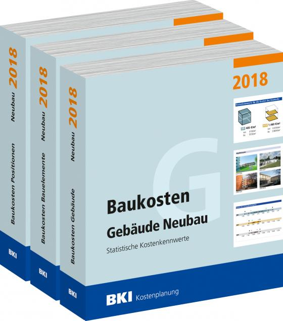 Cover-Bild BKI Baukosten Neubau 2018 - Kombi Teil 1-3
