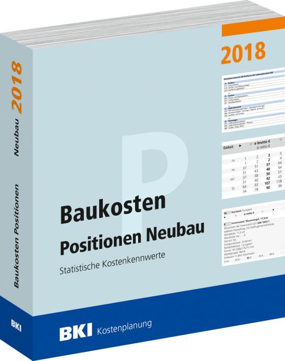 Cover-Bild BKI Baukosten Positionen Neubau 2018