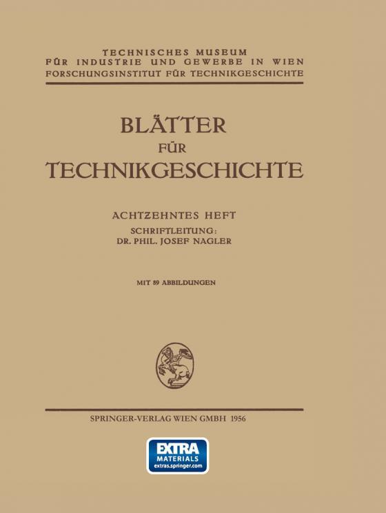 Cover-Bild Blätter für Technikgeschichte