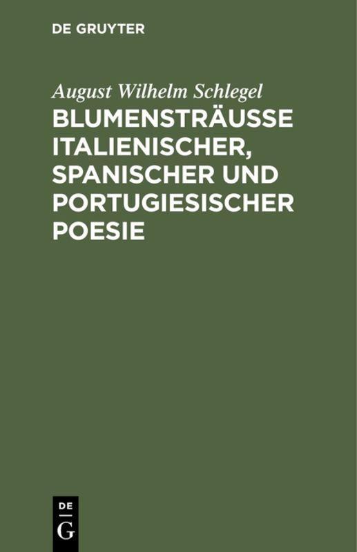 Cover-Bild Blumensträusse italienischer, spanischer und portugiesischer Poesie