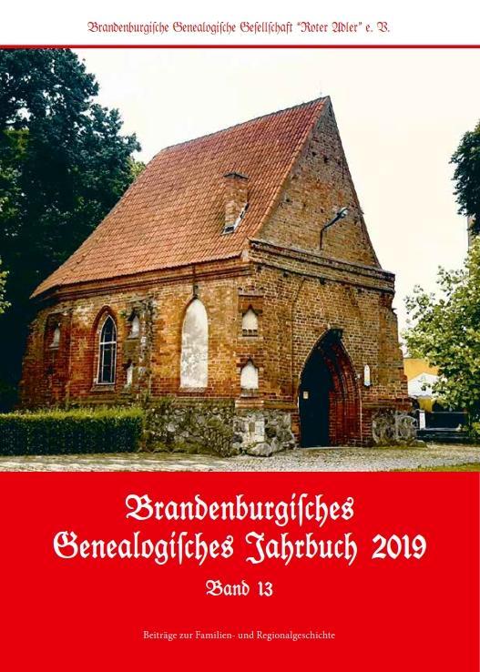 Cover-Bild Brandenburgisches Genealogisches Jahrbuch 2019