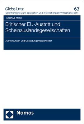 Cover-Bild Britischer EU-Austritt und Scheinauslandsgesellschaften