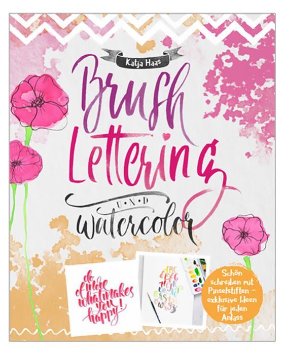 Cover-Bild Brushlettering & Watercolor
