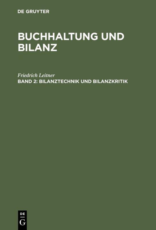 Cover-Bild Buchhaltung und Bilanz / Bilanztechnik und Bilanzkritik