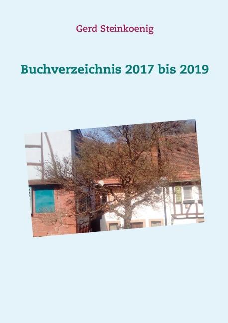 Cover-Bild Buchverzeichnis 2017 bis 2019