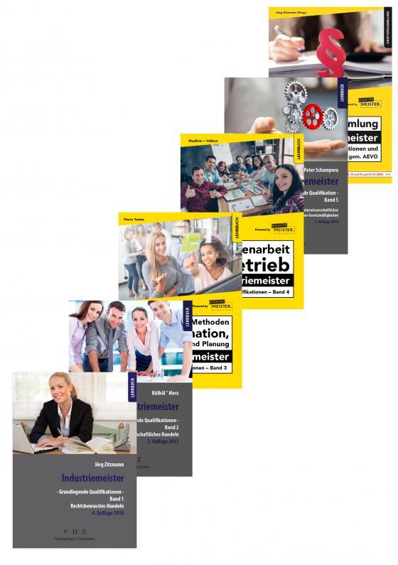 Bücherbundle Industriemeister - RBH, BWH, ZiB, MdP, NTG