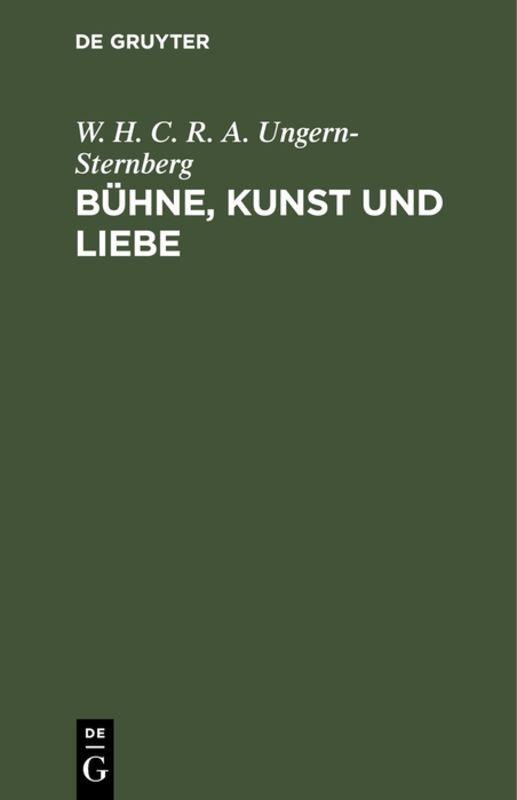 Cover-Bild Bühne, Kunst und Liebe
