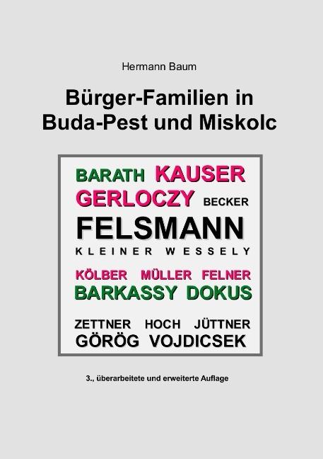 Cover-Bild Bürger-Familien in Buda-Pest und Miskolc