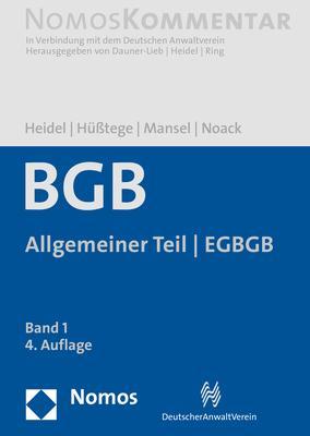 Cover-Bild Bürgerliches Gesetzbuch: Allgemeiner Teil - EGBGB