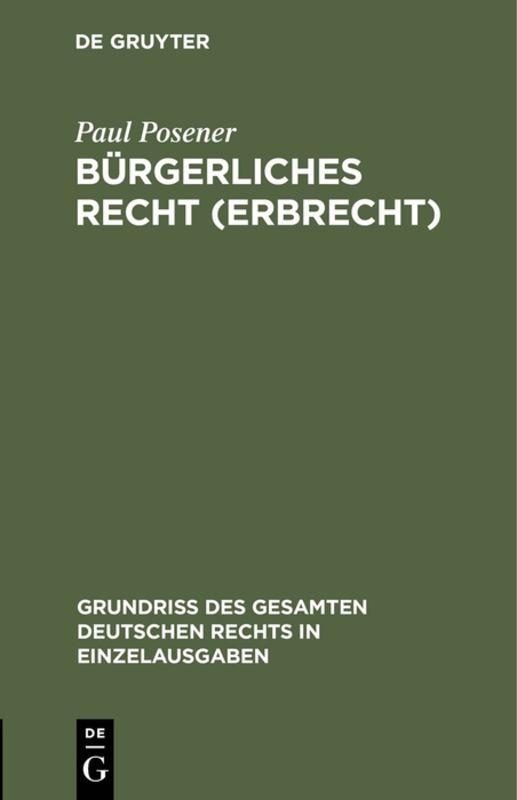 Cover-Bild Bürgerliches Recht (Erbrecht)