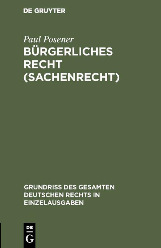 Cover-Bild Bürgerliches Recht (Sachenrecht)