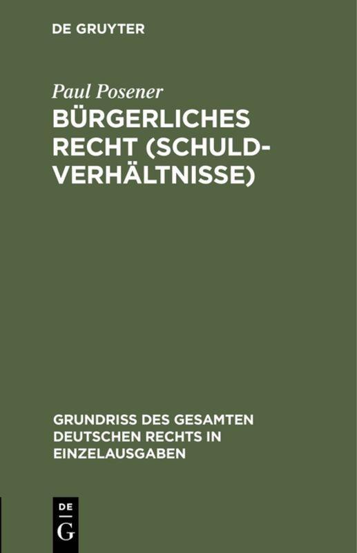 Cover-Bild Bürgerliches Recht (Schuldverhältnisse)