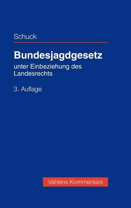 Cover-Bild Bundesjagdgesetz