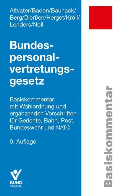 Cover-Bild Bundespersonalvertretungsgesetz