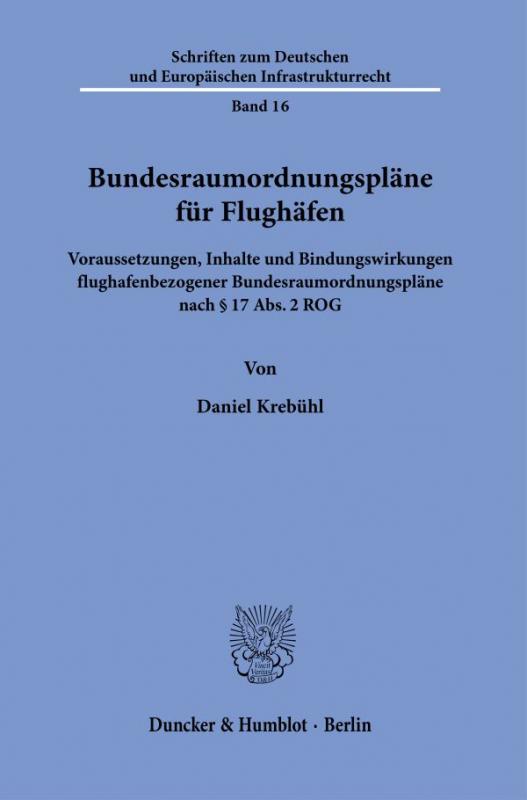 Cover-Bild Bundesraumordnungspläne für Flughäfen.