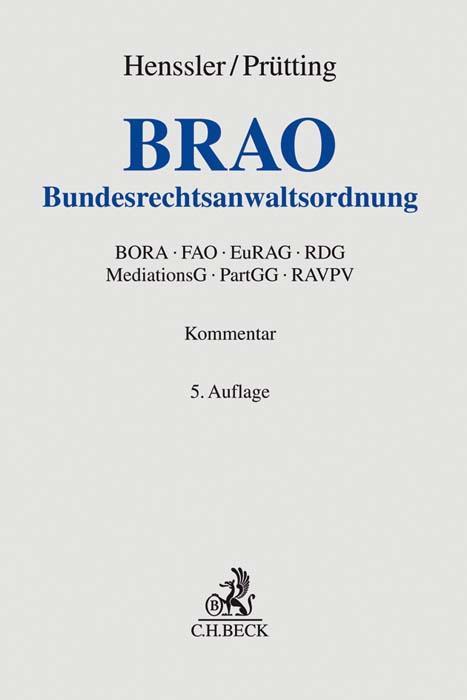 Cover-Bild Bundesrechtsanwaltsordnung