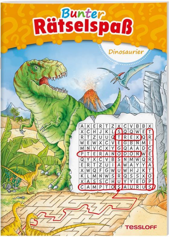 Cover-Bild Bunter Rätselspaß Dinosaurier ab 7 Jahren