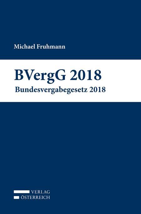 Cover-Bild BVergG 2018