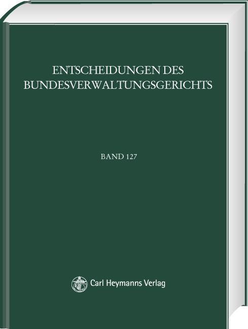 Cover-Bild BVerwGE - Entscheidungen des Bundesverwaltungsgerichts