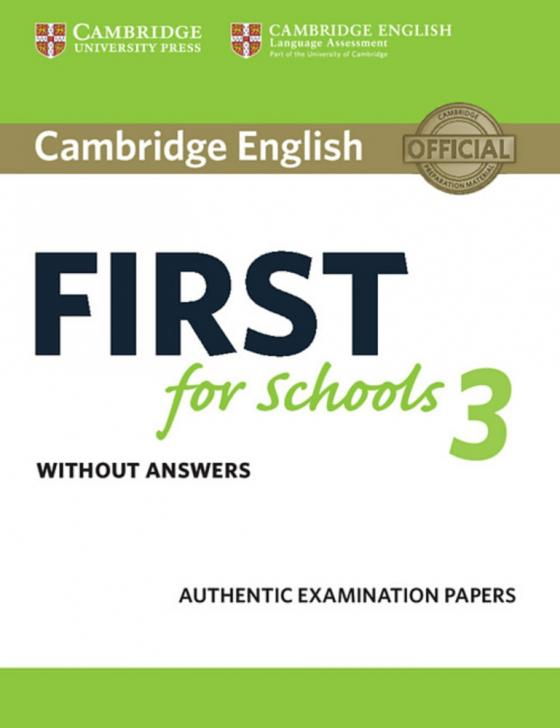 Cover-Bild Cambridge English First for Schools 3