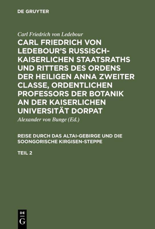 Cover-Bild Carl Friedrich von Ledebour's Russisch-Kaiserlichen Staatsraths und... / Carl Friedrich von Ledebour's Russisch-Kaiserlichen Staatsraths und.... Teil 2
