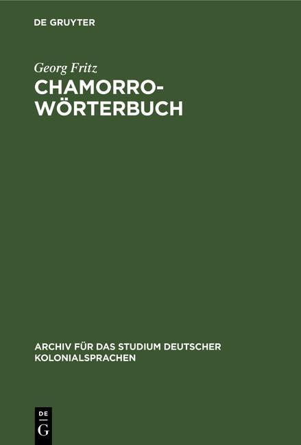 Cover-Bild Chamorro-Wörterbuch