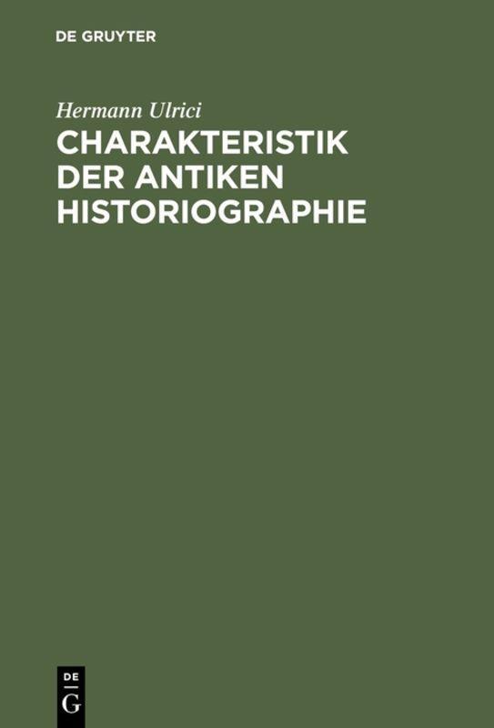 Cover-Bild Charakteristik der antiken Historiographie